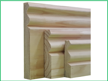 Pine skirting board
